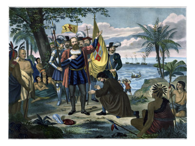 Landing of Christopher Columbus in America